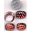 BROWNISH TRANSLUCENT RING WITH DOTS PAINTED ON