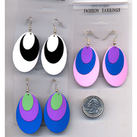 MOD EARRINGS IN ASST MIXED COLORS