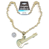 LEAD FREE GUITAR NECKLACE IN GOLD METAL COLOR
