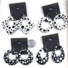 BLACK & WHITE 4 SHAPE POKADOT EARRINGS