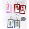 3 RECTANGLES DANGLE WITHIN EARRINGS