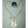 LEAD FREE DOLLAR SIGN NECKLACE IN GOLD