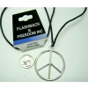 LEAD FREE PEACE SIGN SILVER CLASSIC NECKLACE
