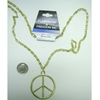 LEAD FREE PEACE SIGN GOLD NECKLACE