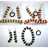 BRACELET, EARRING, & RING WOOD DISC SET