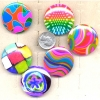 6 COLORFUL MOD PRINTS ON A ROUND DISC RINGS