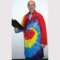 LAB COAT TYE DYE PLAIN OR WITH PATCH ONLY S, XL & XXL IN STOCK