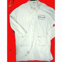 "LAB COAT  WITH ""OBAMA CARE"" PATCH, #2 QUALITY"