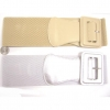 STRETCH BELT WITH RECTANGLE BUCKLE  BASIC STYLE GOLD AND SILVER