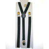 BLACK THIN 1/2 inch SUSPENDERS