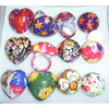 CHUNKY PRETTY PRINTS HEARTS & DOME SHAPE RINGS