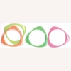 3 SIDED SHAPE BANGLE BRACELETS FROSTED NEON COLORS