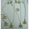SKULL GOLD COLOR NECKLACE & EARRING SET