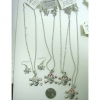 SKULL NECKLACE & EARRING SET IN SIVER