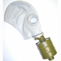 GAS MASK WITH LARGER FILTER