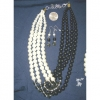PEARL BLACK & WHITE TWIST 4 LINE NECKLACE