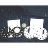 CLASSIC POLKADOAT BLACK & WHITE EARRINGS