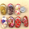 BIG OVAL MOD COOL PRINTS RINGS