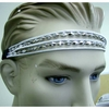 80&#39S GOLD/SILVER HEADBAND WITH CORDS AND DIAMOND BEADS