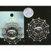 SPIDER  IN A LUCITE DOME ON WEB BROOCH