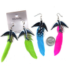 FEATHER AND DOVE CHARM EARRING