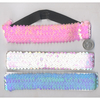 SEQUIN HEADBAND IN PASTEL IRIDESCENT COLORS