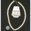 PEARL CHOKER NECKLACE AND EARRING SET 10MM VERY GOOD QUALITY
