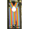 RAINBOW STRIPE 1.3/8 INCH WIDE SUSPENDERS