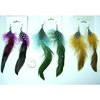 FEATHER EARRING, 3 FALL COLORS, KINDA LONG