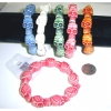 SKULL HEADS  BRACELETS IN COLORS