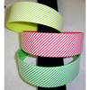 PLASTIC HEADBAND IN COLORS AND WHITE STIPES
