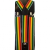 RASTA COLOR STRIPES SUSPENDERS