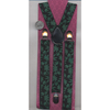 POT LEAF PRINT SUSPENDERS