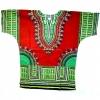 DASHIKI SHIRT  BRIGHT COLORS SHORT SLEEVES