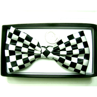 BOW TIE CHECKERBOARD BLACK/WHITE