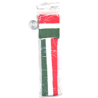 80'S TERRY CLOTH SET RED/WHITE/GREEN STRIPES