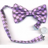 BOW TIE PURPLE AND BLACK CHECKERBOARD PRINT