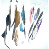 FEATHERS ON A CHAIN HAIR CLIP IN NICE COLORS