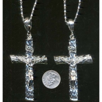 CROSS NECKLACE IN SILVER NICELY DETAILED