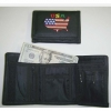 FLAG  ON A WALLET IN USA SHAPE EMBROIDERED TOO