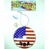 CD FLAG PRINT DEORATIVE USA WITH SUCTION CUP