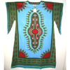 DASHIKI LONG DRESS WITH BELL SLEEVES SIZES, XL, XXL, XXXL