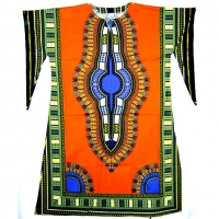 DASHIKI LONG DRESS WITH BELL SLEEVES M-3XL