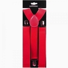 RED  SUSPENDERS  1.3/8 INCH WIDTH