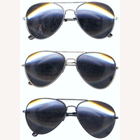 AVIATOR MIRROR LENS, SPRING TEMPLE SUNGLASSES