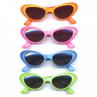 CAT SHAPE SUNGLASSES IN  NEON COLORS