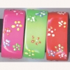 BRIGHT COLOR BANGLES WITH PAINTED FLOWERS IN ASST COLORS