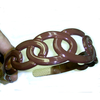 CIRCLES  PLASTIC HEADBAND-BROWN