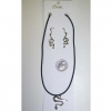 SNAKE NECKLACE CHOKER AND SNAKE EARRING SET.
