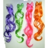 HAIR IN NEON COLORS WITH BOW ON TOP HAIR CLIP